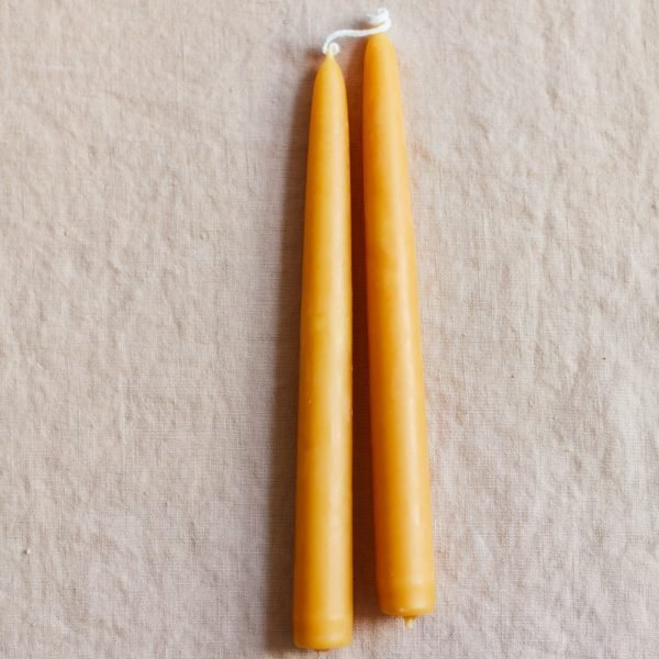 Beeswax Taper Candle (Pair) WEB