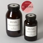 CROPPED BATCH #001 SALT & OIL BATH SOAK ORGANIC TEA TREE AND LAVENDER DUO with badge