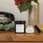 Organic Beeswax Balms with Organic Tea Tree and Lavender