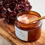 Salt & Oil Body Scrub Organic Tea Tree and Lavender with spoon