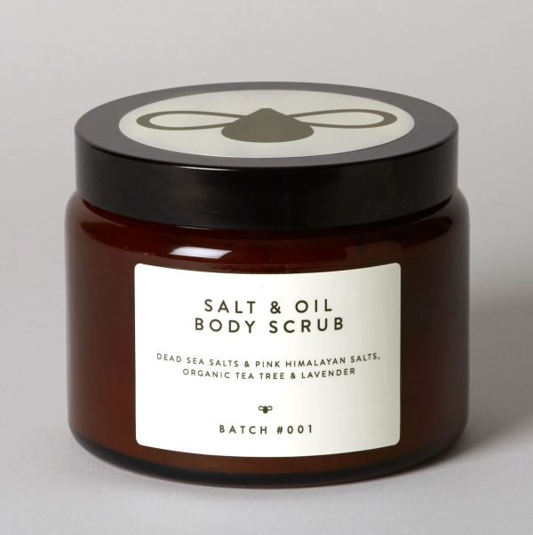 Salt & Oil Body Scrub with Organic Tea Tree and Lavender cropped web