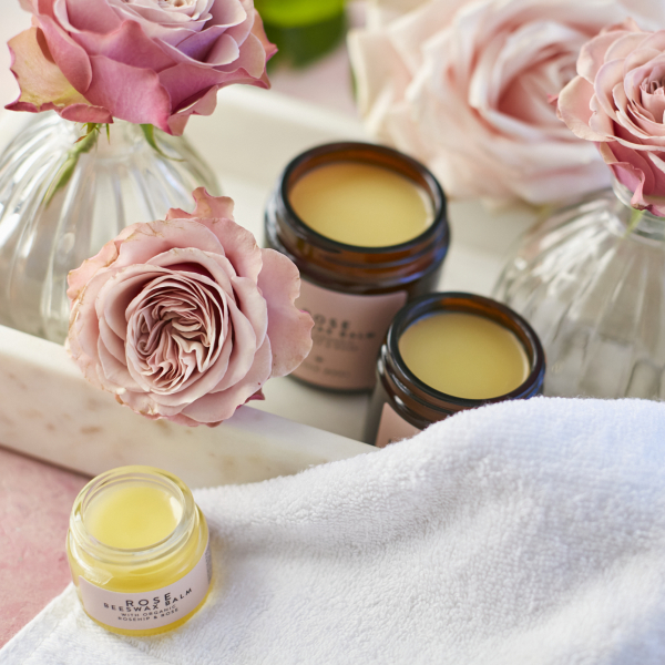 Rose Beeswax Balm Trio with Face cloth