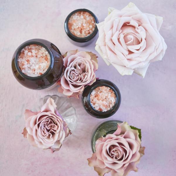 Rose Salt & Oil Bath Soak Overhead