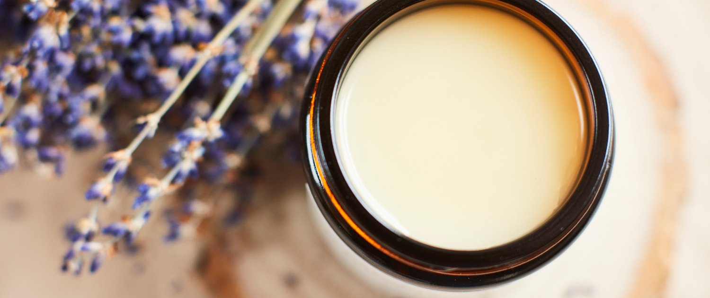 Organic Beeswax Balm with Organic Tea Tree and Lavender