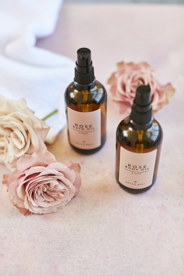 Rose Bath and Body Oil Duo