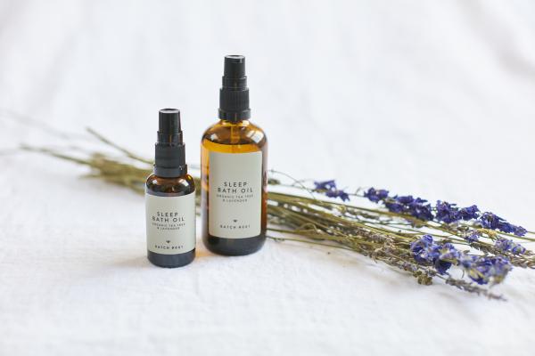 Sleep Bath Oil with Organic Tea Tree and Lavender